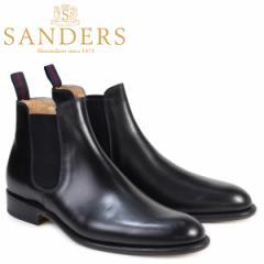 サンダース SANDERS ミリタリー サイドゴア ブーツ チェルシーブーツ ビジネス メンズ BUCHAREST ブラック 1554B
