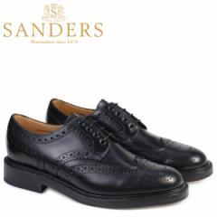 サンダース SANDERS ミリタリー オックスフォード シューズ ウイングチップ メンズ ビジネス FAKENHAM ブラック 9317B