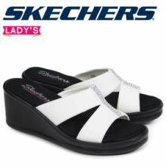 スケッチャーズ SKECHERS ランブラーズ レディース サンダル 厚底 RUMBLERS RISK TAKER 38470 ホワイト