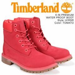 ティンバーランド レディース ブーツ 6インチ Timberland キッズ JUNIOR 6INCH WATERPROOF BOOT A1RSR Mワイズ 防水 レッド
