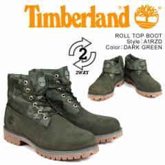 ティンバーランド ブーツ メンズ Timberland ROLL TOP A1RZD Wワイズ ロールトップ グリーン