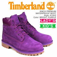 ティンバーランド レディース ブーツ 6インチ Timberland キッズ JUNIOR 6INCHI PREMIUM WATERPROOF BOOT A1VAZ Wワイズ