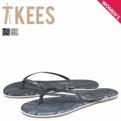 ティキーズ Tkees スタジオ エキゾチック サンダル ビーチサンダル レディース レザー STUDIO EXOTICS グレー ベージュ [5/1 新入荷]