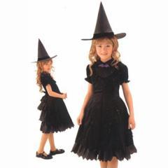 b83229ab2dc40  アウトレット(保証なし) ハロウィン ウィッチガール ムーン キッズ 魔女 コスチューム 衣装 仮装