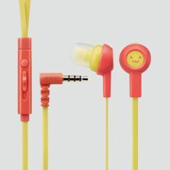 エレコム スマートフォン用ステレオヘッドホンマイク (耳栓タイプ) スマイル2  EHP-CS3520MF2