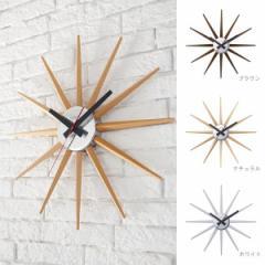 壁掛け時計 おしゃれ 木製 Atras 2-clock TK-2074 アトラス ブラウン/ナチュラル/ホワイト ウォールクロック アートワークスタジオ