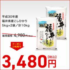 送料無料 平成30年産 福井県産こしひかり 5kg×2袋/計10kg