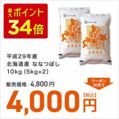 送料無料 お米 ブランド米 平成29年産北海道産ななつぼし10kg(5kg×2)