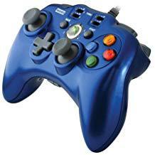 【送料無料】【中古】Xbox 360 ホリパッドEXターボ ブルー コントローラー