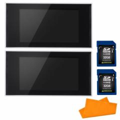 (セット) グリーンハウス(電子POP) GH-EP7E-WH 2台&SDカード32GB  2枚&シリコンクロス