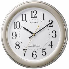 リズム時計 電波掛時計 8MY509-018 【連続秒針 見やすい凸文字 ゴールド】[8MY509018]