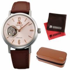【時計ケースセット】オリエント【時計】 スタイリッシュ アンド スマート WV0471DB &腕時計ケース2本用 ブラウン&クロス2枚