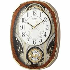 リズム時計 電波からくり時計 からくり・アミューズ スモールワールドノエルM 4MN513RH23