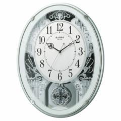 リズム時計 電波掛時計(アミュージングタイプ) からくり・アミューズ スモールワールドプラウド 4MN523RH05