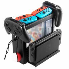 任天堂 Switch 収納スタンド Nintendo Switch専用 Proコントローラー Joy-Con ゲームディスク モンスターボール ゲームソフト TNS19051