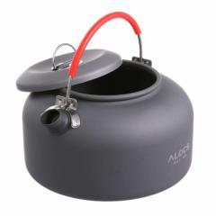 [ALOCS] キャンプ・アウトドア用ケトル ポータブルやかん 0.8L ポット 軽量 登山 BBQ 野外カップ麺に 携帯用ケトル ALOCWK02