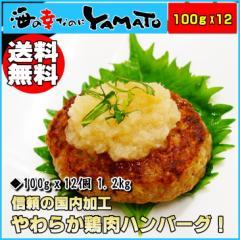やわらか鶏肉ハンバーグ 100gx12個 1.2kg 国産鶏肉使用 鳥 とり トリ にく 惣菜 時短