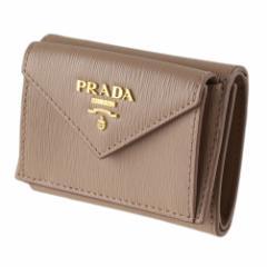 プラダ  折りたたみ財布 PRADA 1MH021 2EZZ ベージュ