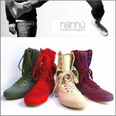 ブーツ メンズ 本革 スエード ハイカットブーツ nannu デンマークブランド インポート キャンバスX牛革(4色) ナヌー