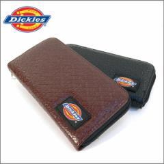 全国送料無料 ディッキーズ 財布 Dickies オールファスナー財布 型押しロゴ メンズ レディース ロングウォレット ユニセックス  プレゼン