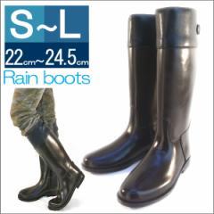 レインブーツ ロングブーツ ジョッキーブーツ 雨の日 梅雨 防水 雨靴 ラバーブーツレディース 長靴 (ブラウンXブラック)