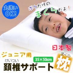 ジュニア用 頚椎サポート枕 (35×50cm) 【a_b】【枕 子供用 まくら 洗える寝具 アレルギー対策 頸椎】 【OS】 rnsk
