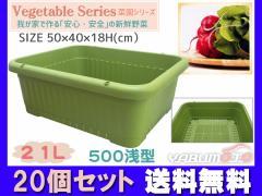 野菜 プランター 葉もの野菜 21L 500浅型 20個セット 50×40×18H(cm) 菜園 グリーン アイカ aika 法人のみ配送 送料無料