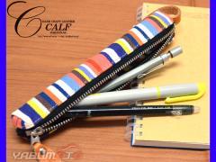 CALF カーフ 倉敷帆布 バトンペンケース fine ファイン Sサイズ ストラップ付き おしゃれ かわいい 筆箱 ネコポス 送料無料