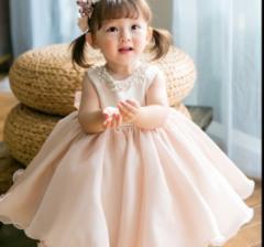 即納子供ドレス ロング ワンピース ドレス ピアノ発表会 七五三 ノースリーブ 二次会 花嫁 結婚式 セレモニードレス 子供服