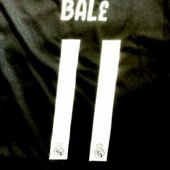 大人用 A027 19 レアルマドリード BALE*11 ベイル 黒グレー ゲームシャツ パンツ付 /サッカー/上下セット/ユニフォーム
