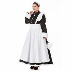 SMLXL2XL3XL/メイド ハロウィン  衣装  コスプレ 仮装 コスプレ衣装 メイド服 セクシー 制服 ゴスロリ  大きいサイズあり