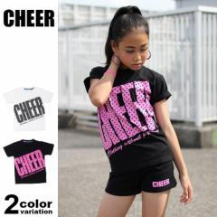 チアー CHEER Tシャツ 半袖 レディース タイトフィット ビッグロゴ CX813232 (cheer tシャツ パーカー トップス チアー)