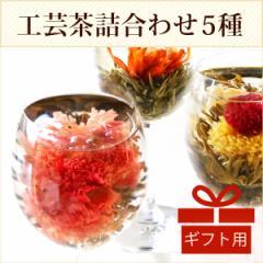 プチギフト お茶 花 咲くお茶 5種 工芸茶 ジャスミン茶 メール便送料無料 カーネーションティ