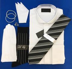 656c235ab7176 ウィングカラーシャツ/ダブルカフス/グレードアップ/便利な小物6点<