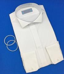 3a9aabb62a159 ウィングカラーシャツ/3営業日以内発送/お手ごろ価格/アームバンド