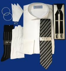 744d918f7ab68 ウィングカラーシャツと安心の小物7点フルセット/お手ごろ価格/