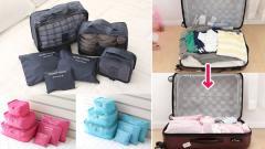 【送料無料】■トラベルポーチ 6点セット■旅行/収納/新商品