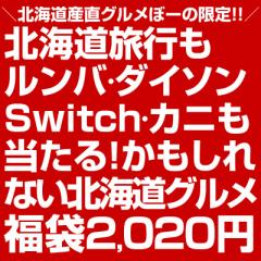 福袋 2020\総額100万円!/合計2020名に当選のチャンス!【M】北海道旅行もルンバ・ダイソンも当たる!かもしれない北海道グルメ福袋big