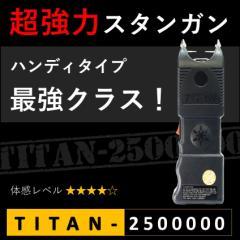 スタンガン TITAN-2500000 タイタン250万ボルト 充電式【送料無料】