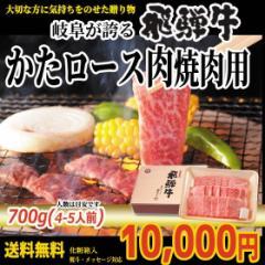ぽっきり【送料無料】飛騨牛かたロース肉焼肉用700g(4〜5人前)【化粧箱入】