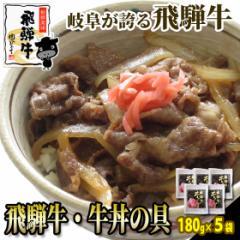 【肉のひぐち】新登場!飛騨牛 牛丼の具!180g入×5袋 ◆送料無料