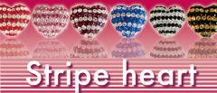 【送料無料】 stripe heart スワロ ストライプハートボール ネックレス ペンダント iPhoneアクセサリー アクセサリー かわいい