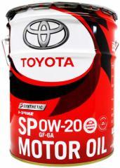 TOYOTA(トヨタ) エンジンオイル トヨタ純正 モーターオイル 0W-20 SP/GF-6A 全合成油 20L 08880-13203