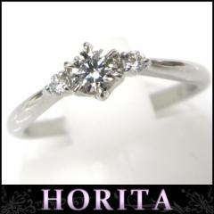 スタージュエリー STARJEWELRY 指輪 ダイヤモンドソリテアリング Pt950 #9 0.219ct F-VS2-EX 0.05ct イニシャル【中古】(21190)