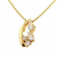 ダイヤモンドネックレス ダイヤモンド ネックレス ペンダント イエローゴールドk18 18金 ダイヤ レディース チェーン 人気 送料無料