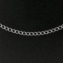 喜平 シルバー ネックレス チェーン 3.4ミリ幅 40cm 鎖 レディース sv925 キヘイ 地金 ネックレス 送料無料