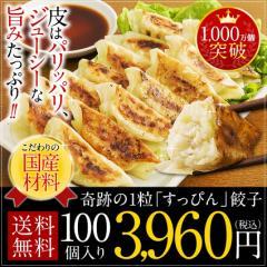 100件限定 奇跡の一粒「すっぴん」餃子100個!送料無料☆タレなしでお召し上がりできます!