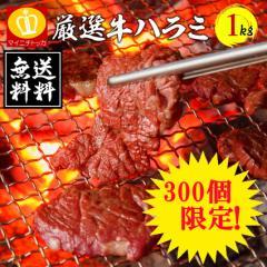 訳あり バーべキュー 牛ハラミ 1キロパック やわらかな噛み心地 ビール 相性抜群 焼肉 牛肉 タレ漬け BBQ 焼き肉