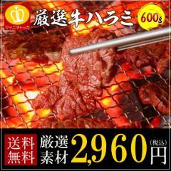 牛ハラミ 送料無料 バーべキュー お試し 600g ご飯 ビール 相性抜群 焼肉 牛肉 タレ漬け BBQ 丼ぶり 焼き肉