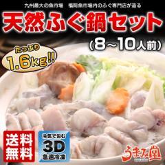 天然ふぐ鍋 セット 8〜10人前 送料無料 ギフト 海鮮  皮 プレゼント 贈り物 グルメ 祝い 食べ物  鍋 年越し